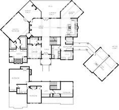 images about House plans on Pinterest   Southern Living    This unique plan is perfect for a mountain or lake view lot  The house features