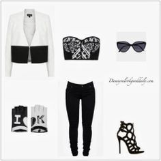 Damn You Look Good Daily: Daily D Fashion-Black And White Bustier by Peter P...