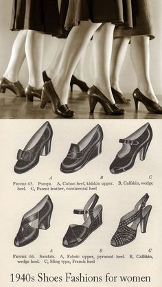 a5f74e807ea494 Click World War Two Influence on 1940s Fashion - Shoe rationing.To read the  full
