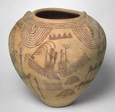Vessel, Predynastic Period, Naqada II, ca. 3450–3300 B.C. Egyptian Painted pottery