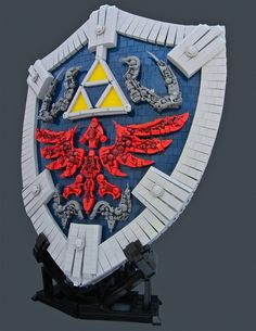 This incredible life-sized Hylian Shield from The Legend of Zelda: Twilight Princess debuted at Brickcon 2012 this weekend. //Sweet!
