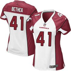Women's Nike Arizona Cardinals #41 Antoine Bethea Limited White NFL Jersey