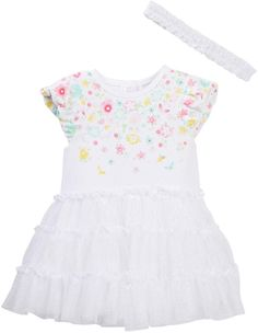 1879f36b7bdc Little Me Waterfall Floral Tutu Bodysuit  amp  Headband Set (Baby Girls)   babygirl