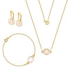 Komplet z kryształami Swarovski Swarovski, Gold Necklace, Jewelry, Fashion, Moda, Gold Pendant Necklace, Jewlery, Jewerly, Fashion Styles