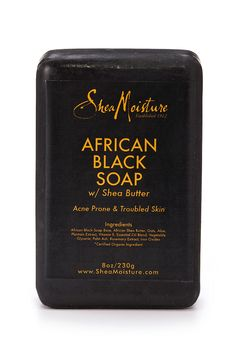 Will These 4 African Black Soap Bars Clear and Restore Your Skin?: Shea Moisture African Black Soap with Shea Butter African Black Soap, Black African Soap Benefits, Shea Butter Soap, Body Bars, Perfume, Beauty Secrets, Beauty Products, Face Products, Essential Oils