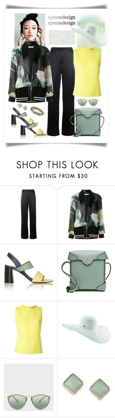 """Lanvin Printed Bomber Jacket Look"" by romaboots-1 ❤ liked on Polyvore featuring Lanvin, Chloé, MANU Atelier, Emilio Pucci, Tommy Bahama, Paul Smith, ABS by Allen Schwartz and Alexis Bittar"