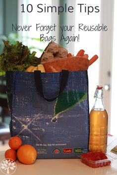10 Tips to Remember Your Reusable Bags - The Earthy Mama