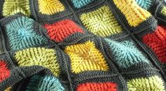 [Free Pattern] Amazing Shaded Squares Blanket