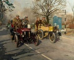 On the Brighton Road by Terence Cuneo