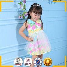 De alta qualidade crianças roupas bebê meninas vestidos de algodão marca meninas vestidos