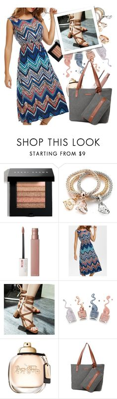 """""""dress by twinkledeals"""" by teto000 ❤ liked on Polyvore featuring Bobbi Brown Cosmetics and Maybelline"""