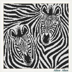 photo black white Cross Stitch Pattern Animal Zebra striped horse black white abstract Counted Cross Stitch Pattern (Pattern Animal Zebra Abstract) designed by me, so you have a uniqu Disney Cross Stitch Patterns, Counted Cross Stitch Patterns, Cross Stitch Charts, Black And White Abstract, Black White, White Zebra, Color Black, Cross Stitch Animals, Tapestry Crochet