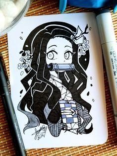Manga Art, Anime Art, Anime Chibi, Demon Slayer, Slayer Anime, Amazing Drawings, Cute Drawings, Pretty Art, Cute Art