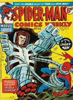 orig UK Cover for Spider-Man Comics Weekly (Marvel UK, 1973 series) #54 _ ( 5 - 1 ) _