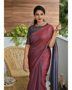 How To Style Simple Sarees To Look Super Stylish! Blouse Designs High Neck, Simple Blouse Designs, Stylish Blouse Design, Silk Saree Blouse Designs, Latest Blouse Designs, Simple Sarees, Trendy Sarees, Stylish Sarees, Saris
