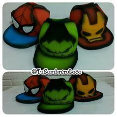 #boda  #superheroes #gorras #spiderman #hulk #ironman #horaloca #fiesta #eventosocial #PuertoOrdaz #arteengomaespuma #TuSombreroLoco