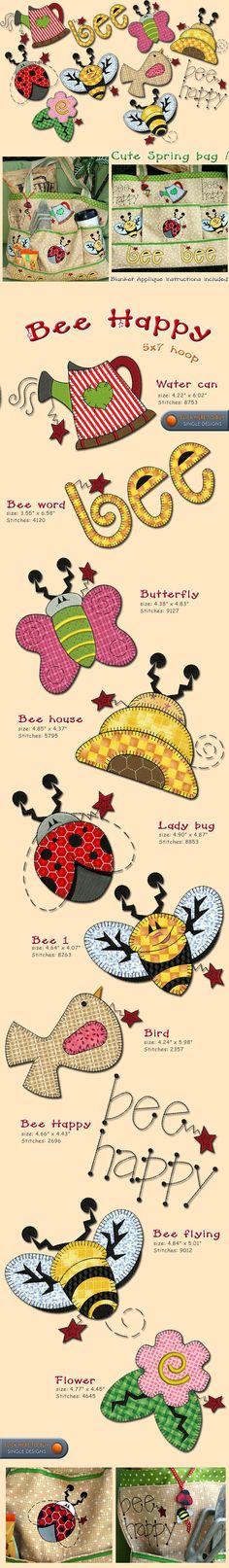FLOWERS, BEE, SPRING Embroidery Designs Free Embroidery Design Patterns Applique