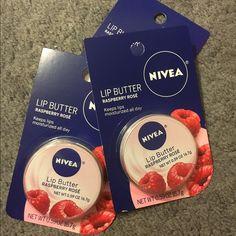 Nivea Lip Butter 3 Pack Raspberry Rose Nivea Lip Butters. Super moisturizing  & smells delicious! Nivea Makeup Lip Balm & Gloss