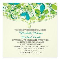 Spring in Green Wedding Invite