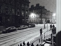 Glasgow bath street when snowing