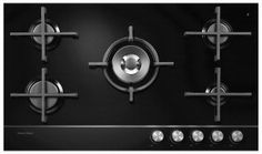 FISHER & PAYKEL 90CM BLACK GLASS GAS COOKTOP CG905DNGGB1   Price $1999.00   Specifications: 900Wx530Dx64H  Features: 5 BURNERS
