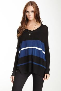 Two-Tone Stripe Sweater by RD Style on @HauteLook