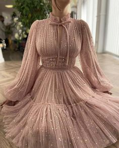 Rose Gown, Baby Pink Dresses, Gowns For Girls, Taffeta Dress, Dress Shapes, Gowns With Sleeves, Mermaid Dresses, Pastel Pink, Ball Gowns