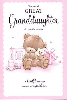 Great Granddaughter Age 1 1st Birthday Card Special Verse