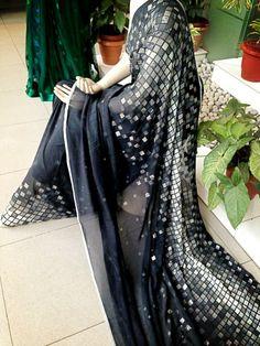 Black & Silver Saree