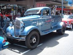 Older Tow Truck, sweet! 1936 Chevy beautifully restored!