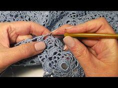 Узор дает очень красивое кружевное полотно, которое подходит для вязания летних изделий. Можно связать тунику крючком, или топ, или платье, или шаль, или исп...