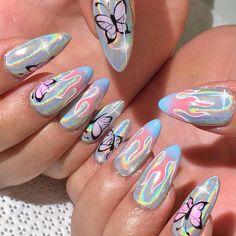 Reason You Didn't Get Coffin Nails Short Design Glitter 58 Cute Acrylic Nails, Cute Nails, Pretty Nails, My Nails, Perfect Nails, Gorgeous Nails, Nail Art Designs, Design Art, Manicure E Pedicure