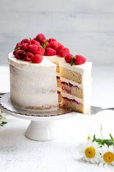Chef Ani | Vegan Lemon Raspberry Cake Raspberry Lemon Cakes, Vegan Lemon Cake, Raspberry Desserts, Vegan Cake, Best Vegan Desserts, Vegan Foods, Cake Recipes, Dessert Recipes, Cake Day