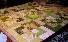 New baby bento box quilt in progress.