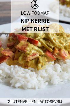 Low FODMAP kip kerrie met rijst! Een heel makkelijk recept voor glutenvrije kip kerrie met rijst. Lactosevrij. #FODMAP #glutenvrij #lactosevrij #kipkerrie #rijst Fodmap Diet, Low Fodmap, Fodmap Foods, Healthy Meals For Kids, Easy Meals, Healthy Recipes, Fodmap Recipes, Eating Plans, Food Allergies