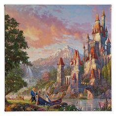 In the Gallery Wrapped Canvas ''Beauty and the Beast II'', Thomas Kinkade envisioned a breath-taking romantic surprise. Beast has secretly planned a special afternoon for the one he is falling in love with, Belle.