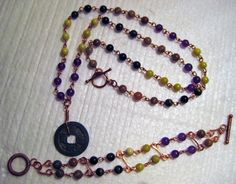 5 Autumn Jasper Peridot Jasper Purple Amethyst by JuliaLouiseShop, $22.00