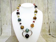 Jade, Silver and Pearl Necklace – J6 - by daksdesigns on Etsy