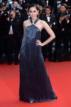 Cannes 2013 - Araya A. Hargate in Salvatore Ferragamo - Day 8 (montée des marches All Is Lost)