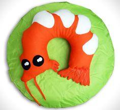 Shrimpy, die kleine Nackenrolle -orange