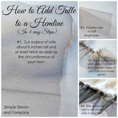 A Baby Doll Dress & How to Add Tulle to the Hem of a Dress or Skirt - Simple Simon and Company