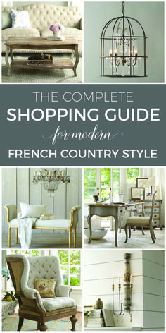 It doesn't have to cost a fortune to buy gorgeous French Country furniture! These affordable and beautiful pieces will deliver modern French style within any budget. Amazing curated selections in this shopping guide!! Add French charm to your home now! Complete source list with direct links to buy now | designthusiasm.com #frenchcountrydecorating #frenchcountryshopping #frenchcountryfurniture
