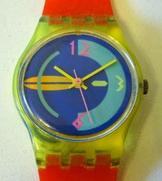 Colourful 1980s Swatch Watch