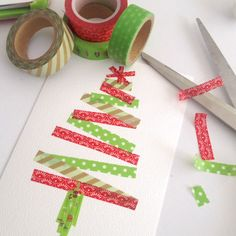Make this easy Christmas card using our Washi Tape bundle!