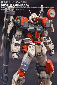MG 1/100 Buster Gundam - Customized Build     Modeled by Ghost