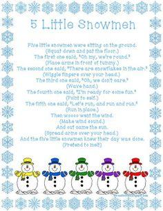 5 Little Snowmen - Fingerplay