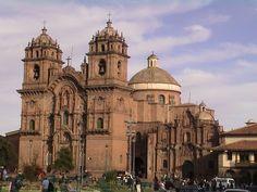 Cusco, Peru: The Plaza de Armas is on the left.