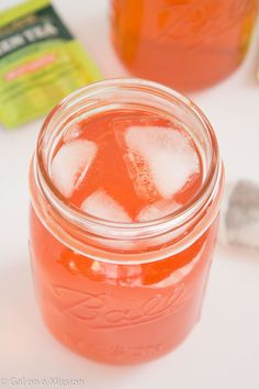 Homemade Strawberry-Green Tea Soda with Bigelow Tea on galonamission.com #AmericasTea #shop
