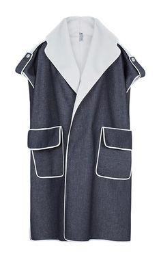 Breathtaking Sleeveless Overcoat by MATICEVSKI for Preorder on Moda Operandi