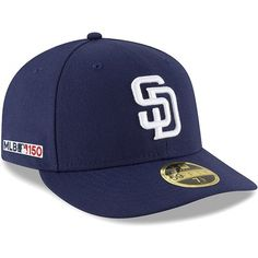 low priced b1ff5 a7318 Men s New Era Navy San Diego Padres Home MLB 150th Anniversary Authentic  Collection Low Profile 59FIFTY